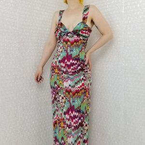 Z/G Karina Grimaldi multicolour silk maxi dress